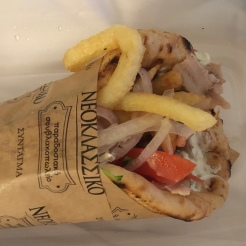 pork donair with fries in it..odd?