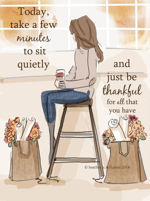 Wall Art for Women - Just Be Thankful - Wall Art Print - Digital Art Print - Wall Art -- Print